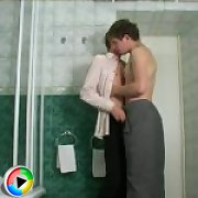 18 y.o. gay newlyweds fuck in a shower